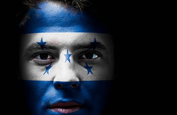 bandera de honduras en superficie - bandera de honduras fotografías e imágenes de stock