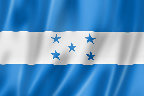 Honduras flag Honduras flag, three dimensional render, satin texture honduras stock pictures, royalty-free photos & images