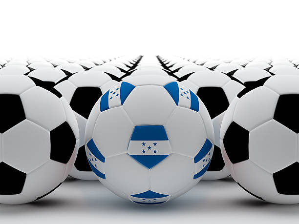 honduras de fútbol - bandera de honduras fotografías e imágenes de stock
