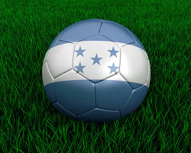 Honduras soccer ball stock photo