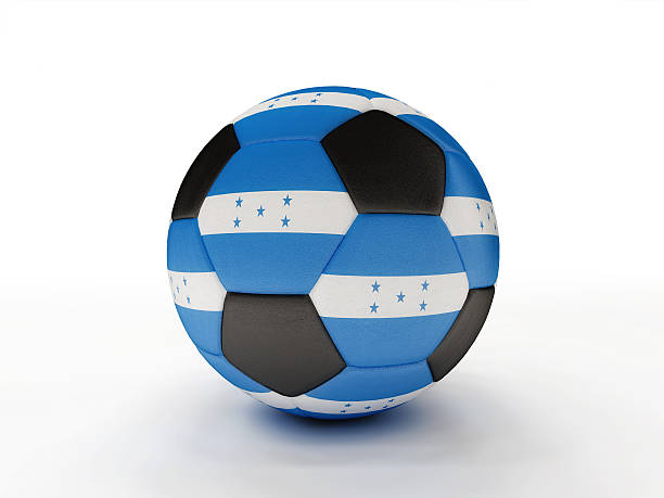 Honduras soccer football ball stock photo