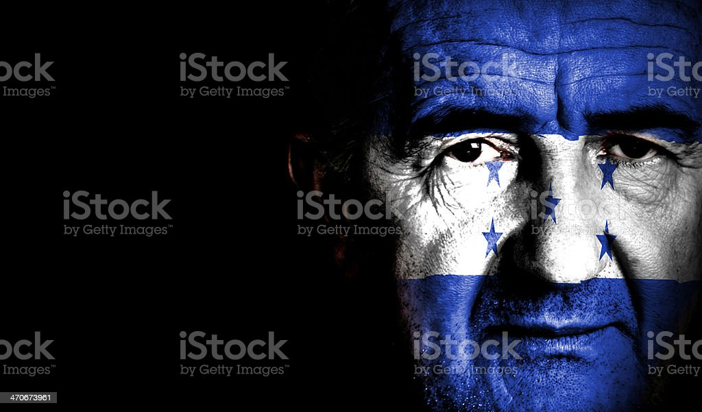 Honduras Sport Soccer Fan royalty-free stock photo