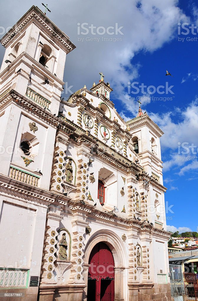 Honduras - Tegucigalpa: church of Virgen de los Dolores royalty-free stock photo