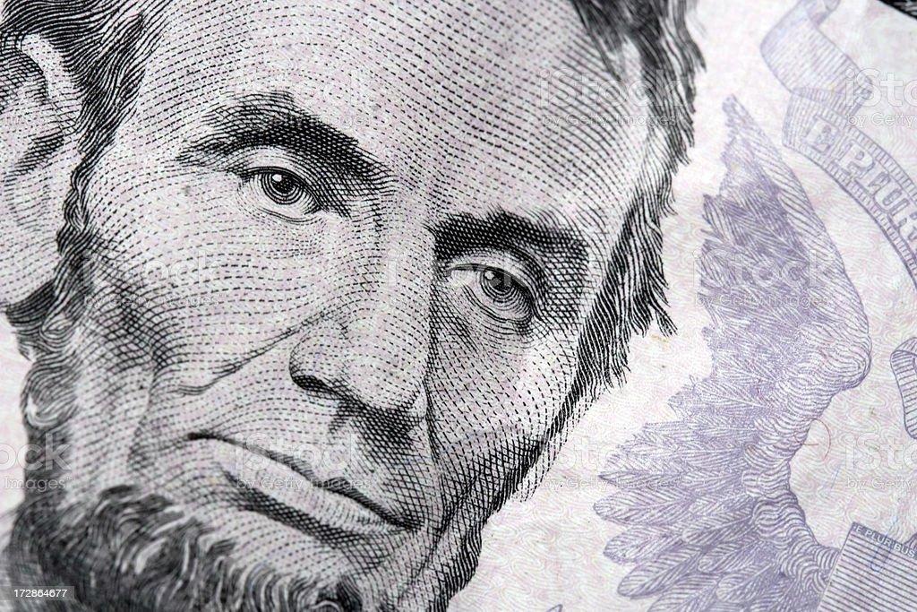 Honest Abe stock photo