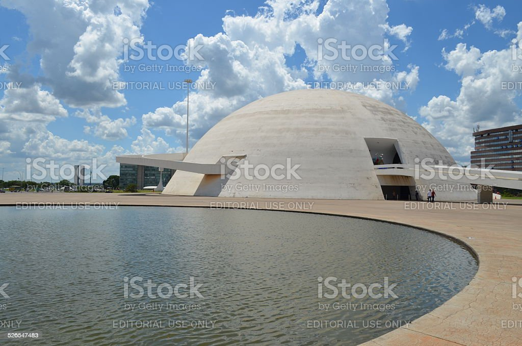 Museu Nacional Honestino Guimaraes, Brasilia - Brazil stock photo