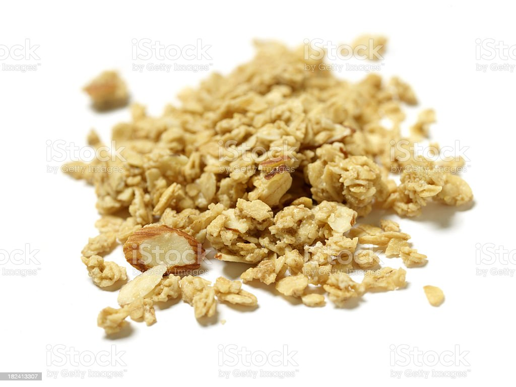 Honey Almond Granola stock photo