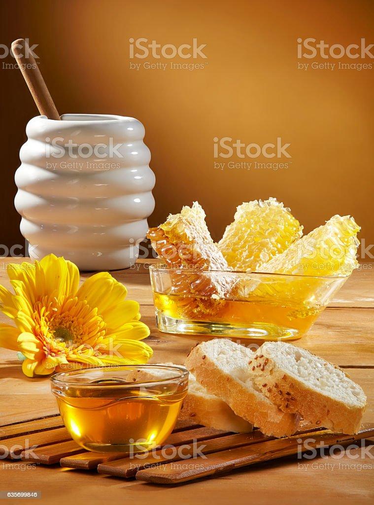 honey and honeycomb royalty-free stock photo