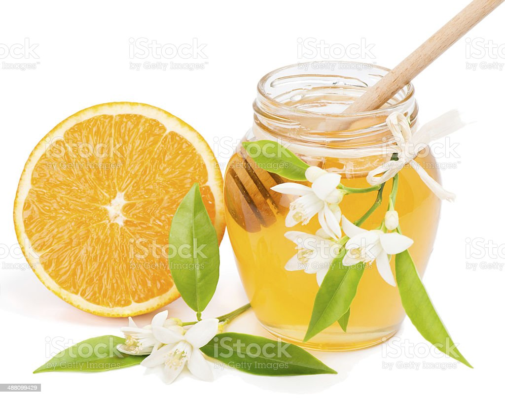 honey and orange stock photo