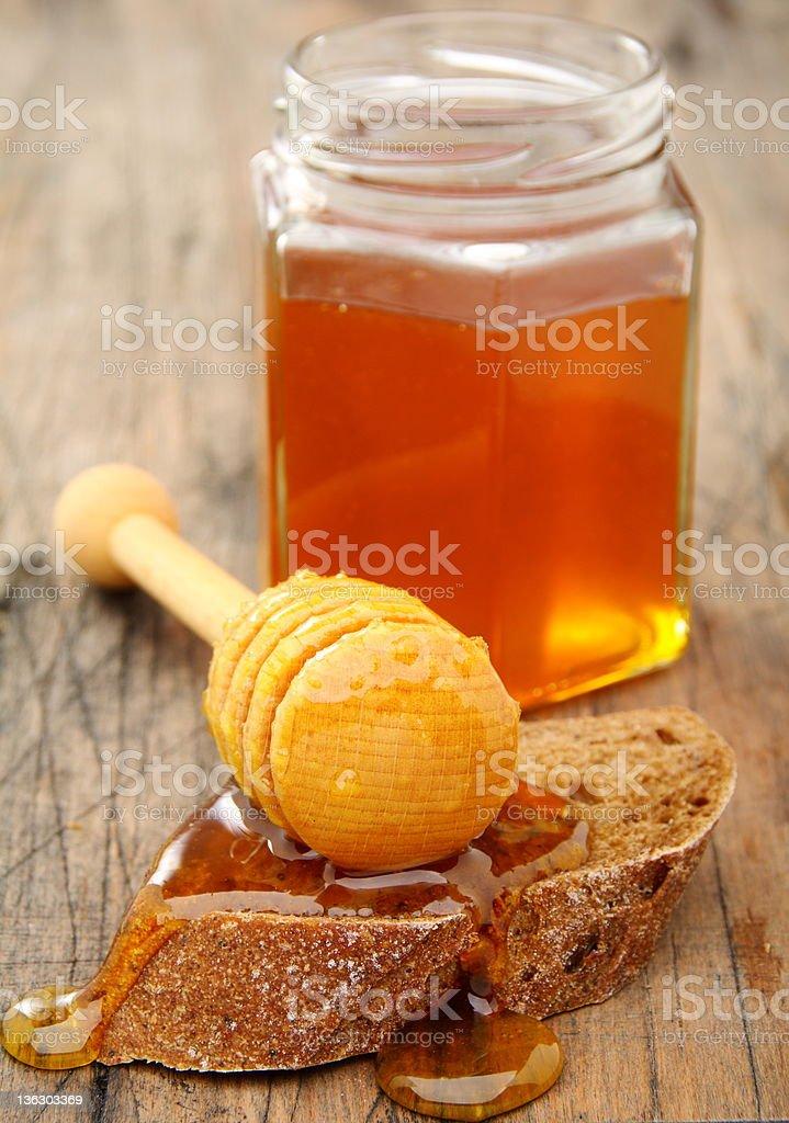 Honey and rye bread. royalty-free stock photo