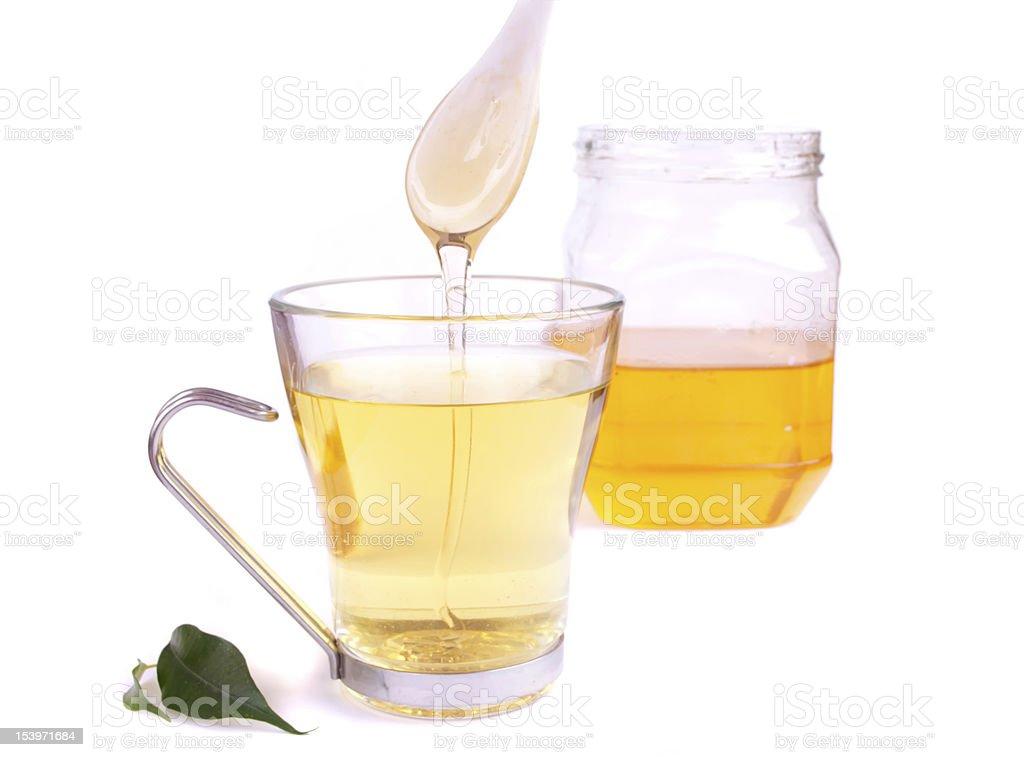 Honey and tea royalty-free stock photo
