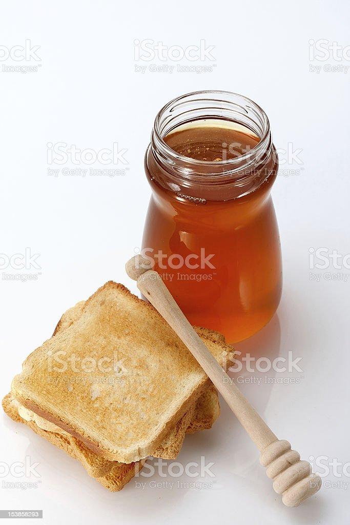 Honey and Toast royalty-free stock photo