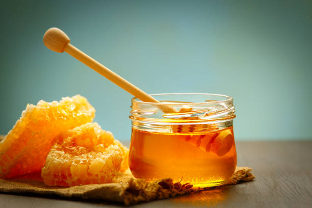 Honey background. stock photo
