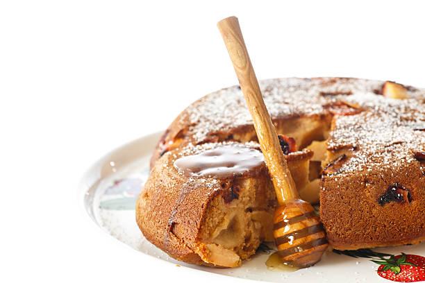 honig-kuchen - quittenkuchen stock-fotos und bilder