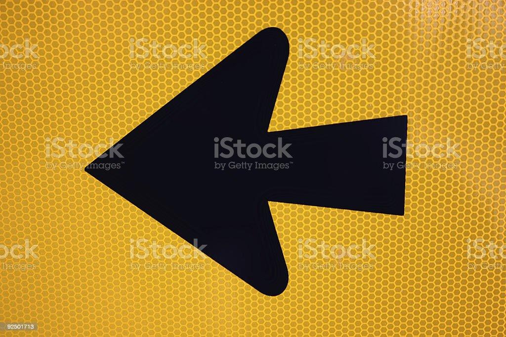 Honey Comb Arrow royalty-free stock photo