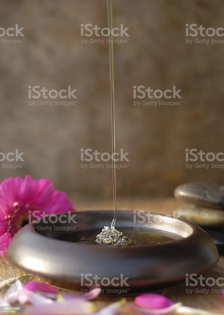 Honey dripping royalty-free stock photo