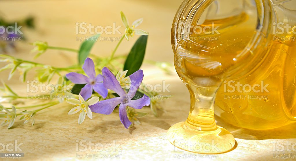 honey flow royalty-free stock photo