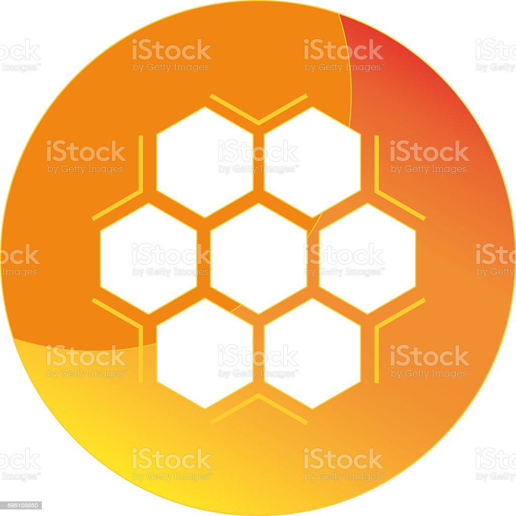 Honey icon stock photo