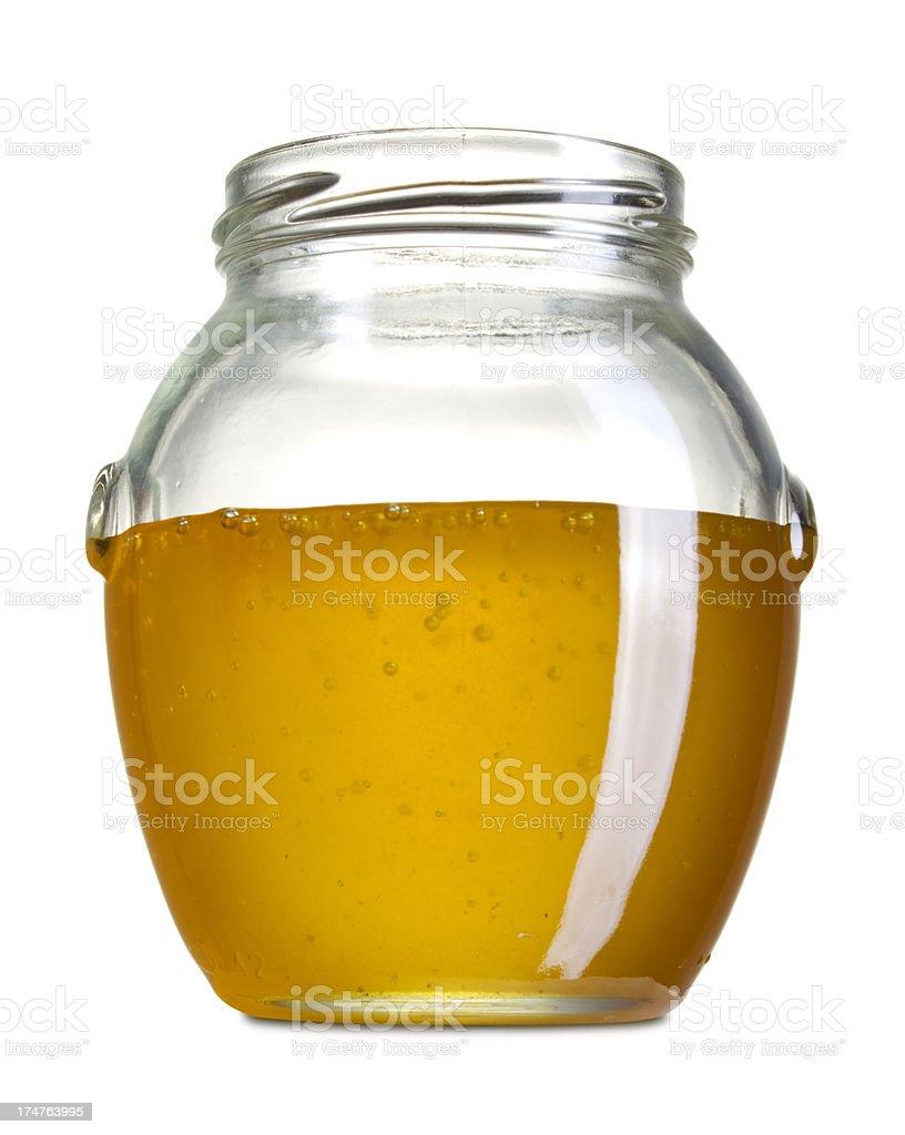 Honey in jar royalty-free stock photo