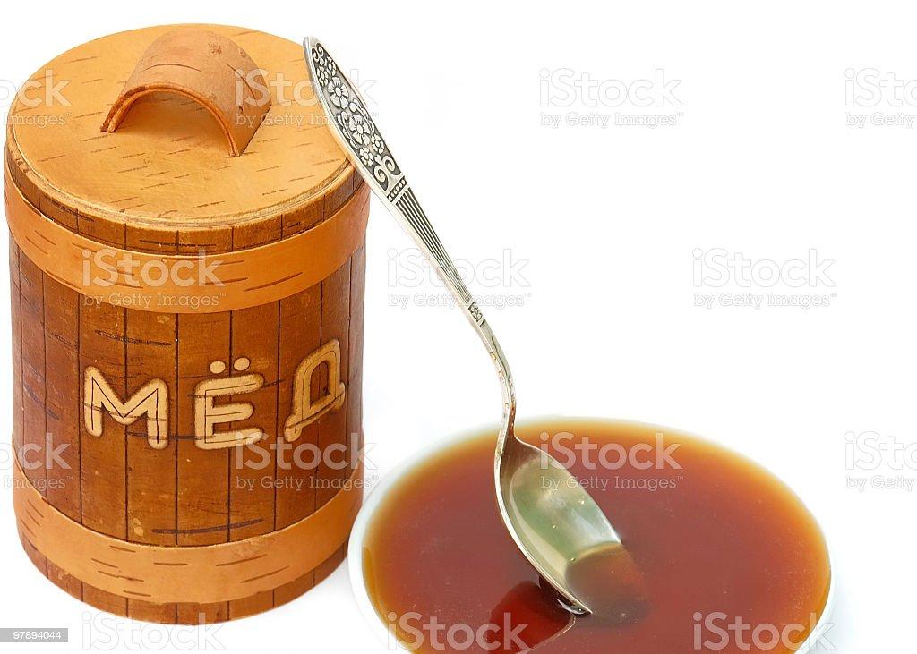 Honey in the dish royalty-free stock photo