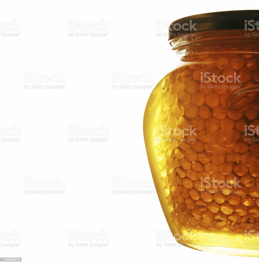 Honey jar 2 royalty-free stock photo