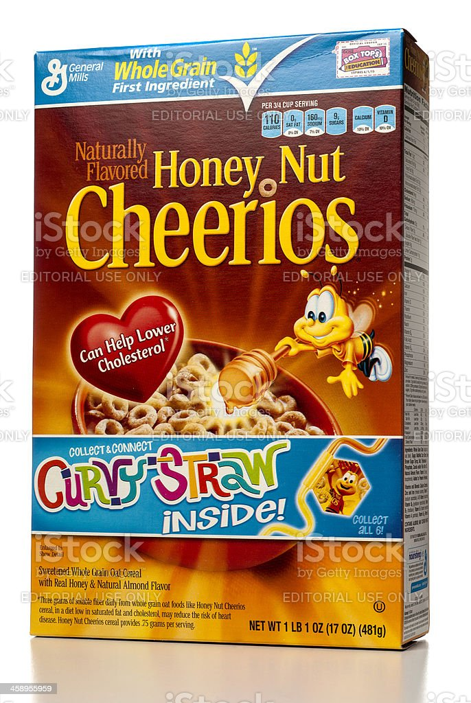 honey nut cheerios cereal box isolated on white stock photo more