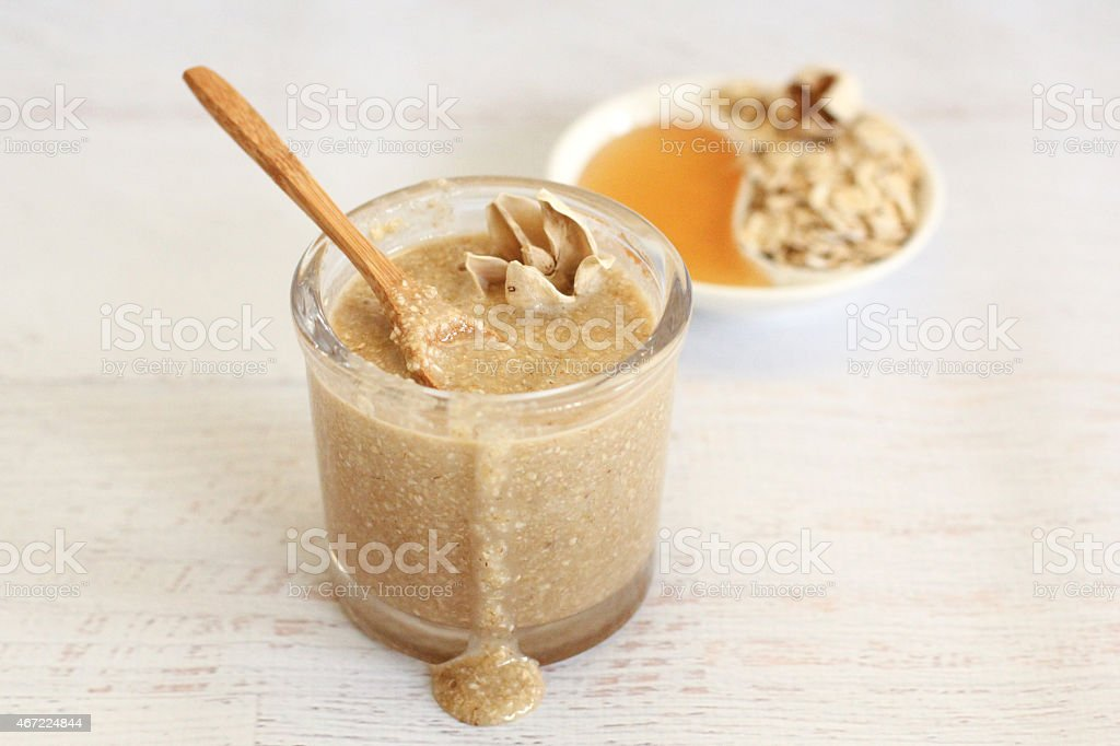 Honey Oat Body Scrub stock photo