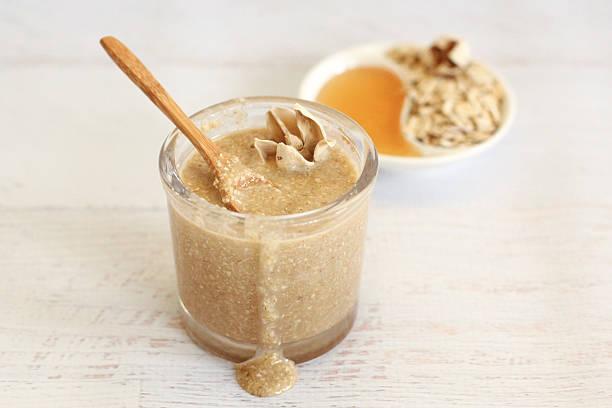 Honey Oat Body Scrub stock photo