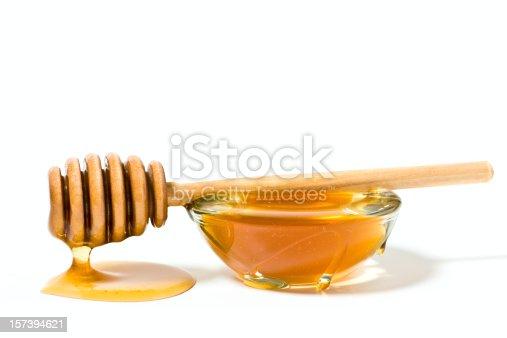 Honey on white