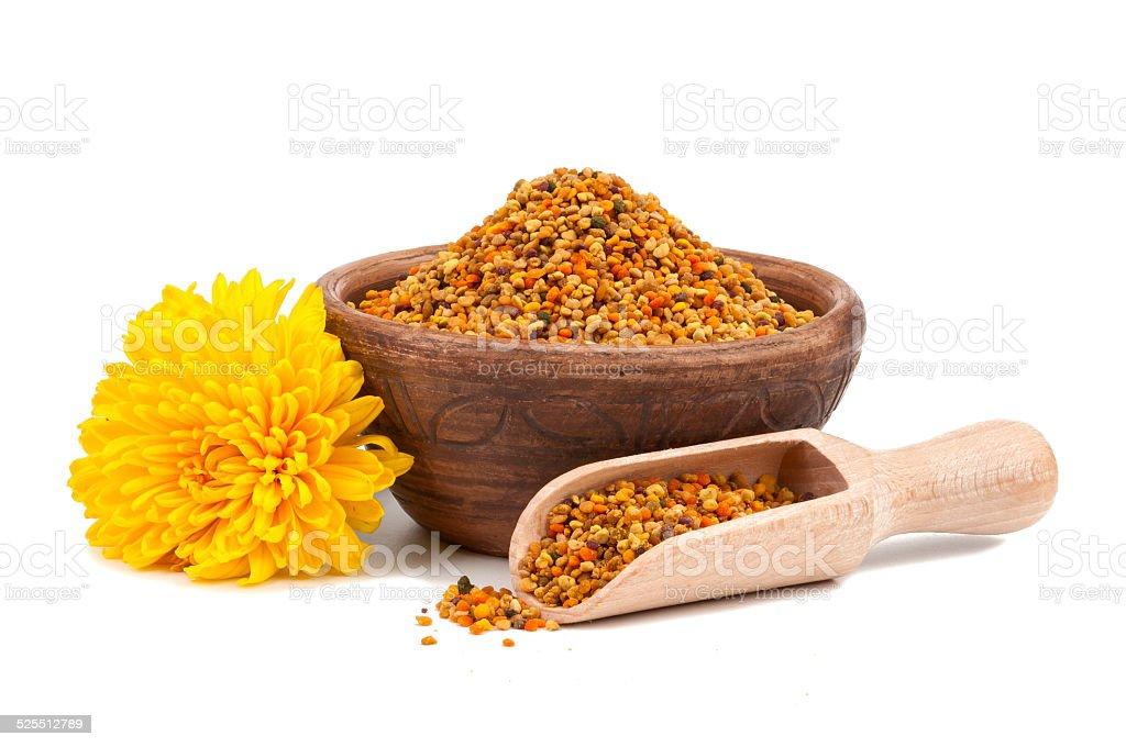 Honey pollen isolated stock photo