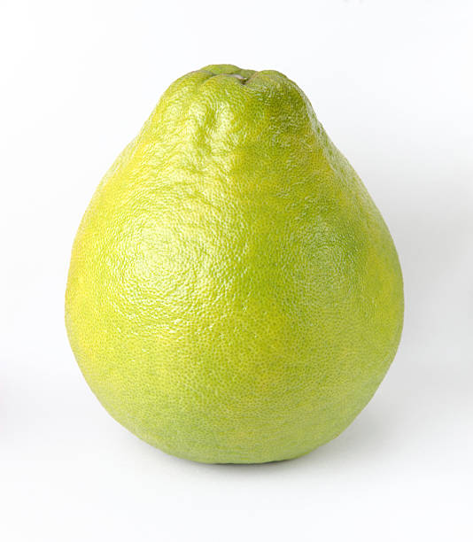 Honey pomelo on white stock photo