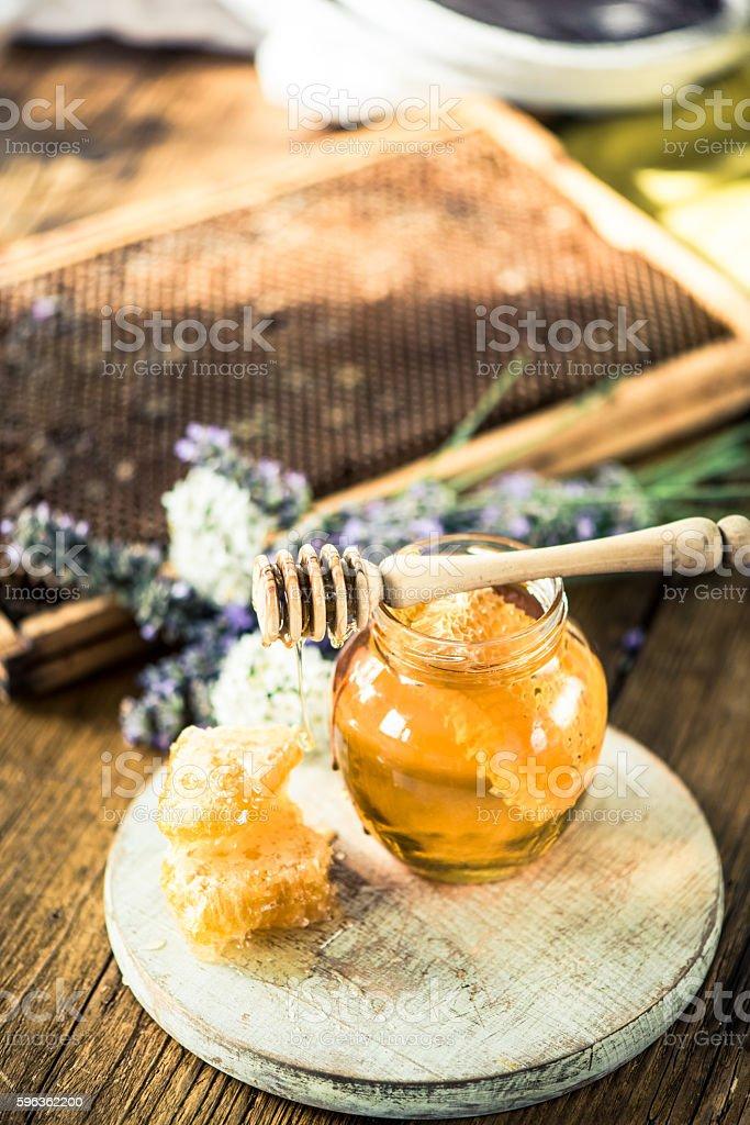 Honey still life image royalty-free stock photo