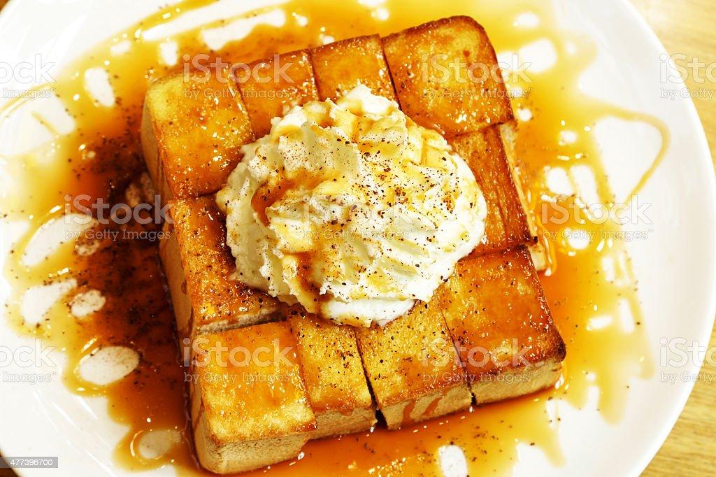 Honey toast breads. stock photo