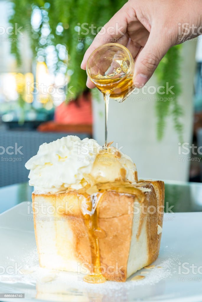 Honey Toast royalty-free stock photo