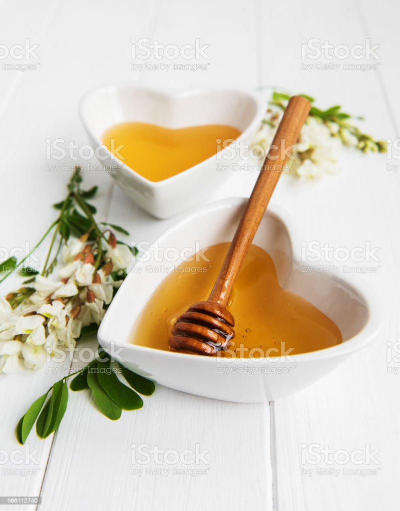 Honey with acacia blossoms - Royalty-free Acacia Tree Stock Photo