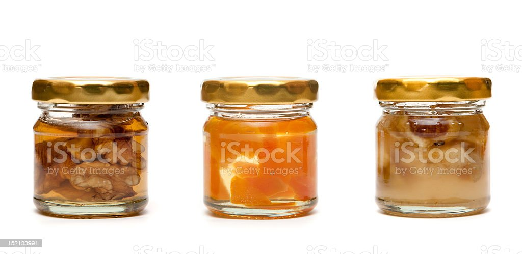 honey with nuts royalty-free stock photo
