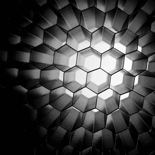 honeycomb grid mesh background - 蜂巢式樣 個照片及圖片檔