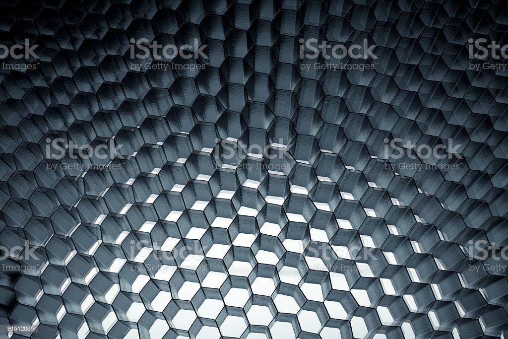 Honeycomb grid mesh background royalty-free stock photo