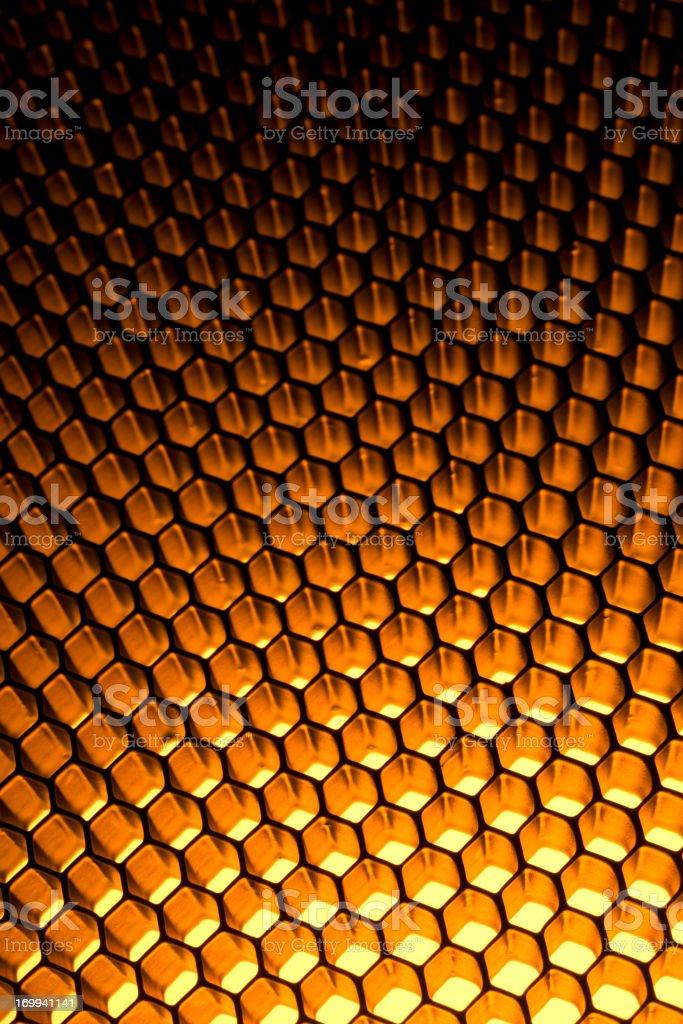 Honeycomb grid royalty-free stock photo