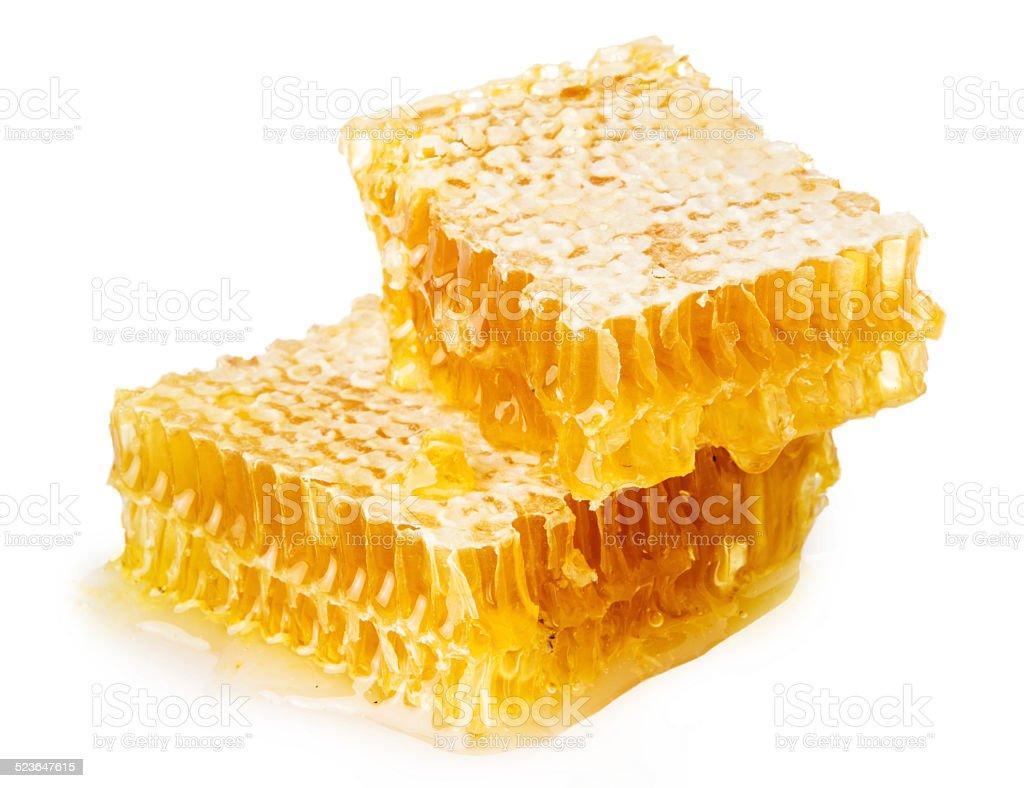 Honeycomb in closeup stock photo