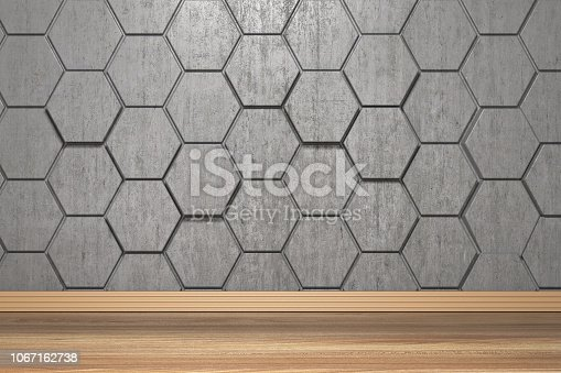 istock Honeycomb interior wall - Stock image 1067162738