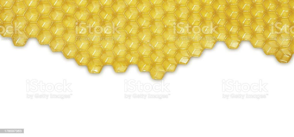 Honeycomb isolated on white background royalty-free stock photo
