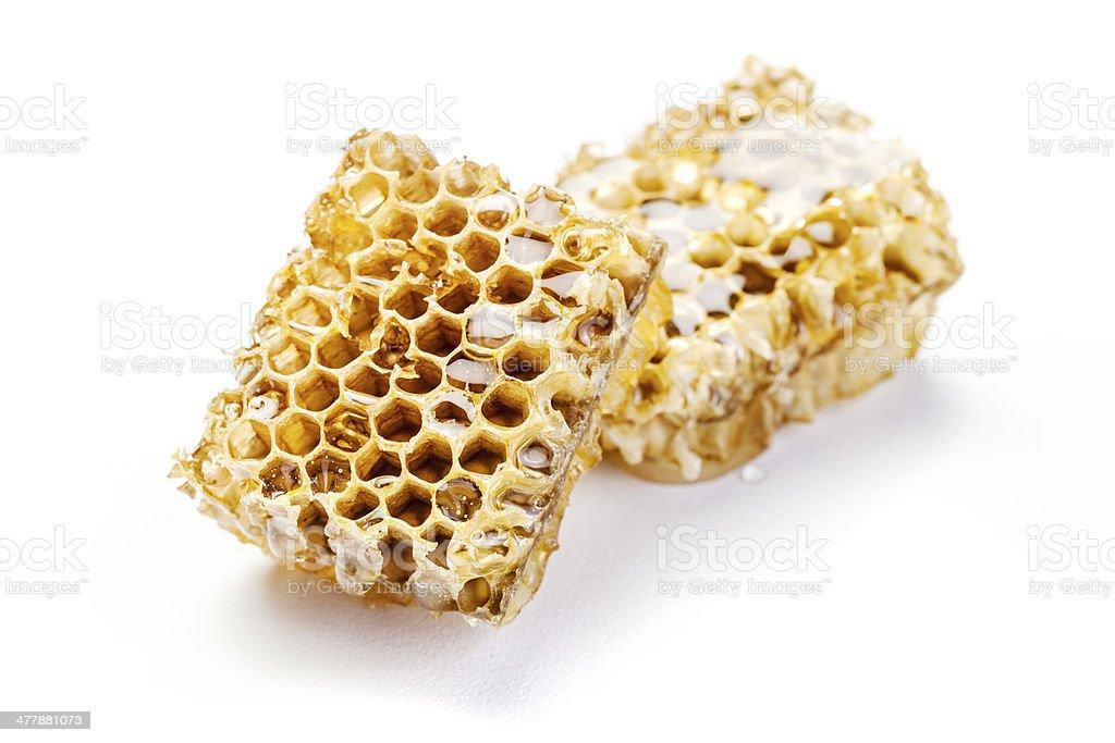 honeycomb on white background royalty-free stock photo