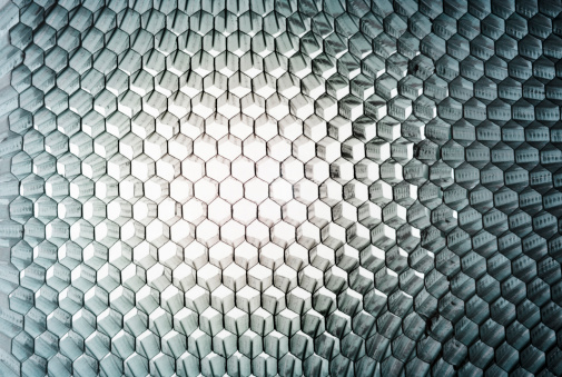 Honeycomb Panel Closeup Abstract Texture With Light Stock Photo - Download Image Now