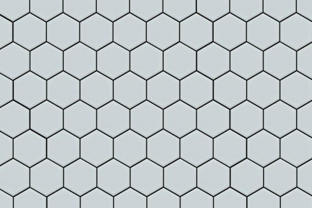 honeycomb tile background - azulejo imagens e fotografias de stock