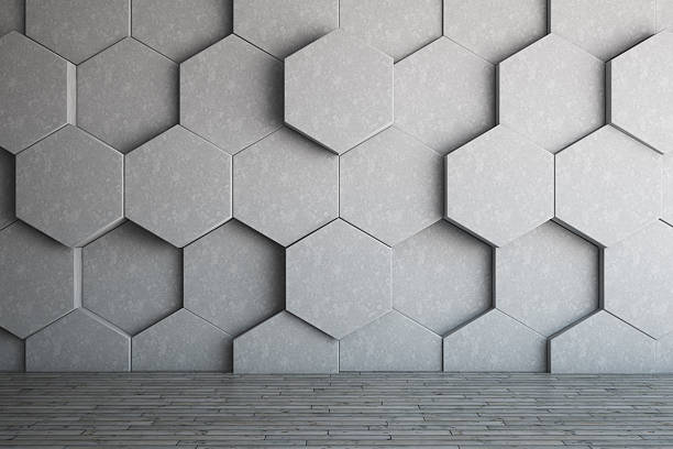 Honeycomb Wall stock photo