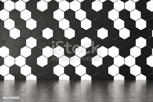 istock Honeycomb Wall with Lights 990269908
