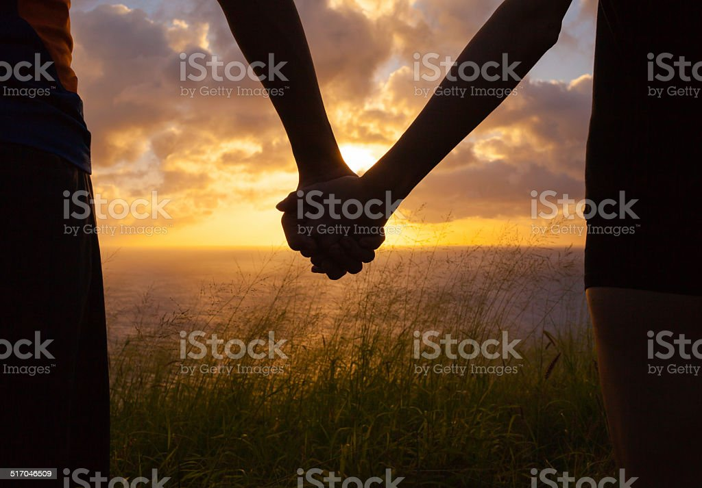 Honeymoon couple stock photo