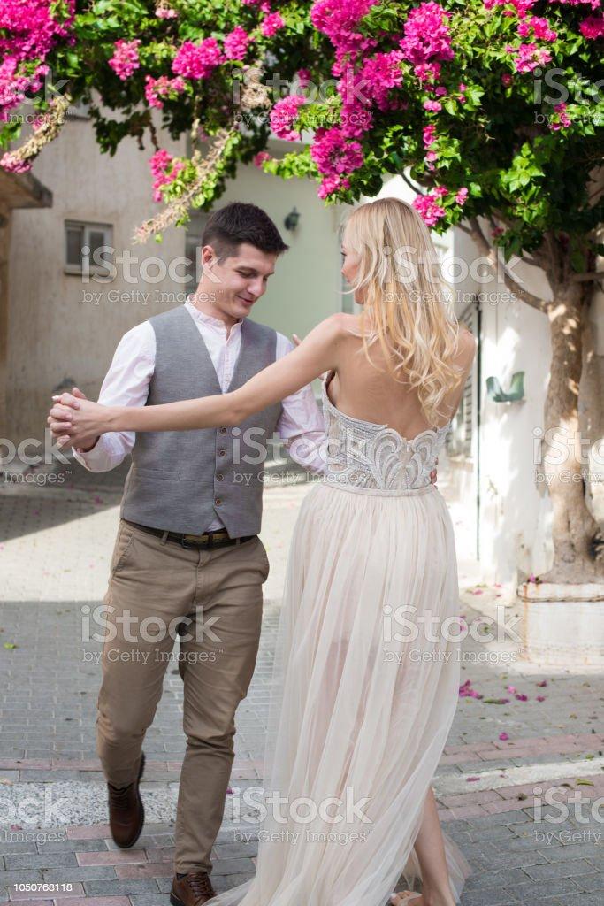 Honeymoon in Greece stock photo