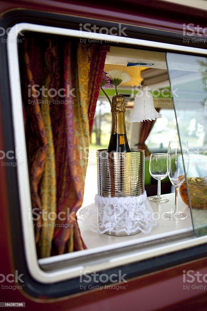 Honeymoon Picnic stock photo