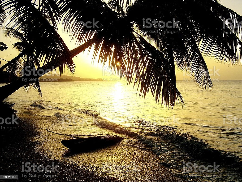 honeymoon sunset royalty-free stock photo